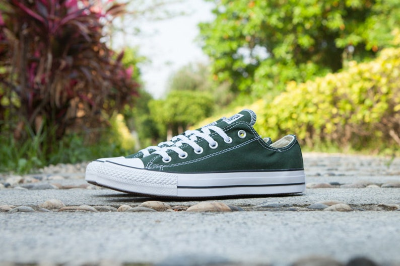 43e57641194c Green Converse Forest Hunter Gloom Low Top Bling Custom w