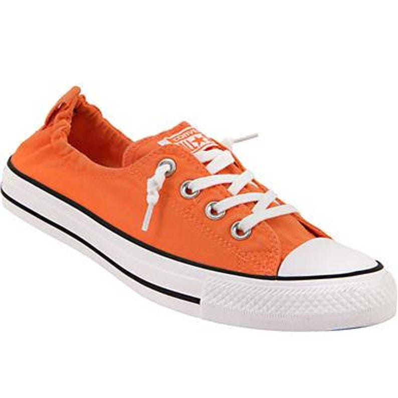 56b184ebd72 Orange Converse Red Mango Coral Shoreline Slip on Kicks w