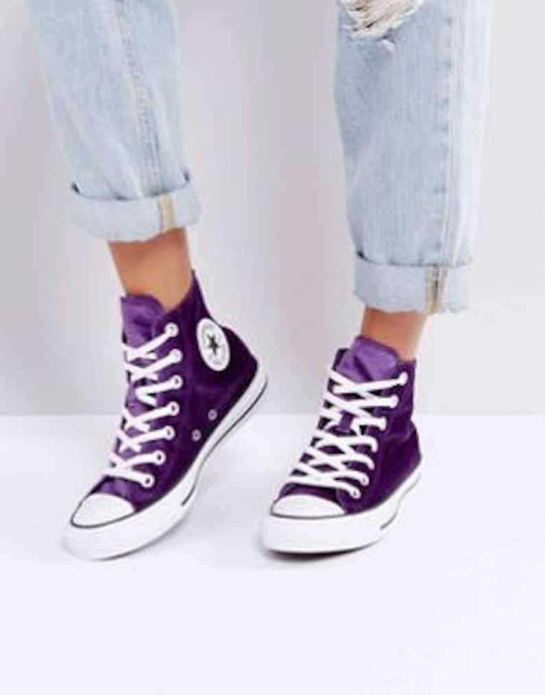 Purple Converse High Top Kicks Eggplant
