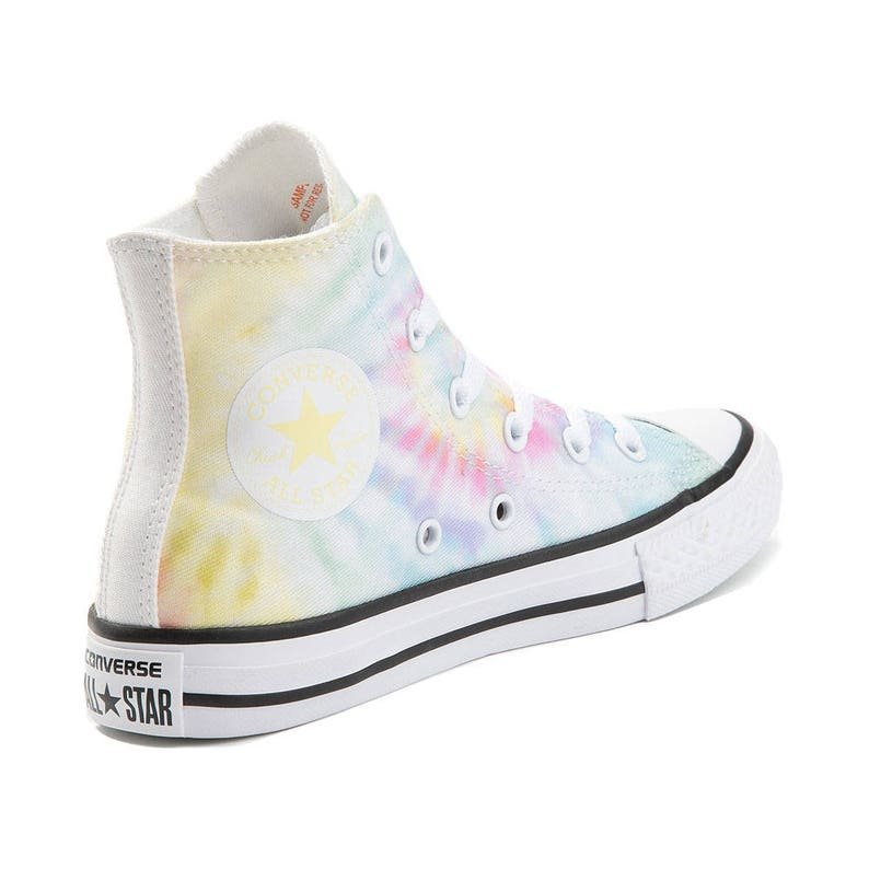 a80b9e33b1bf Tie Dye Converse High Top Pastel Canvas Rainbow Custom Kicks