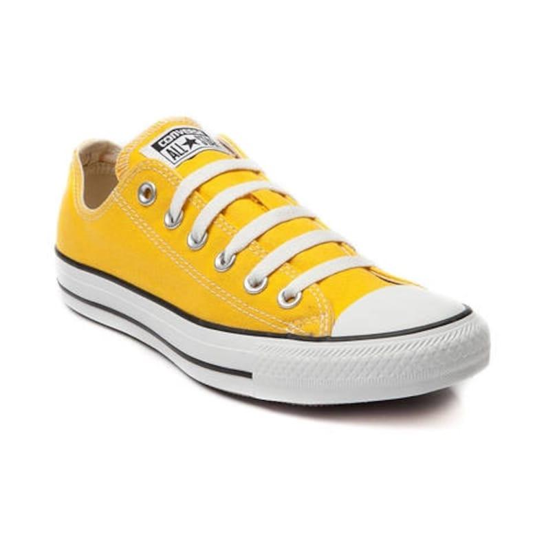 a2ae058ca517 Yellow Converse Low Top Summer Lemon Custom w  Swarovski