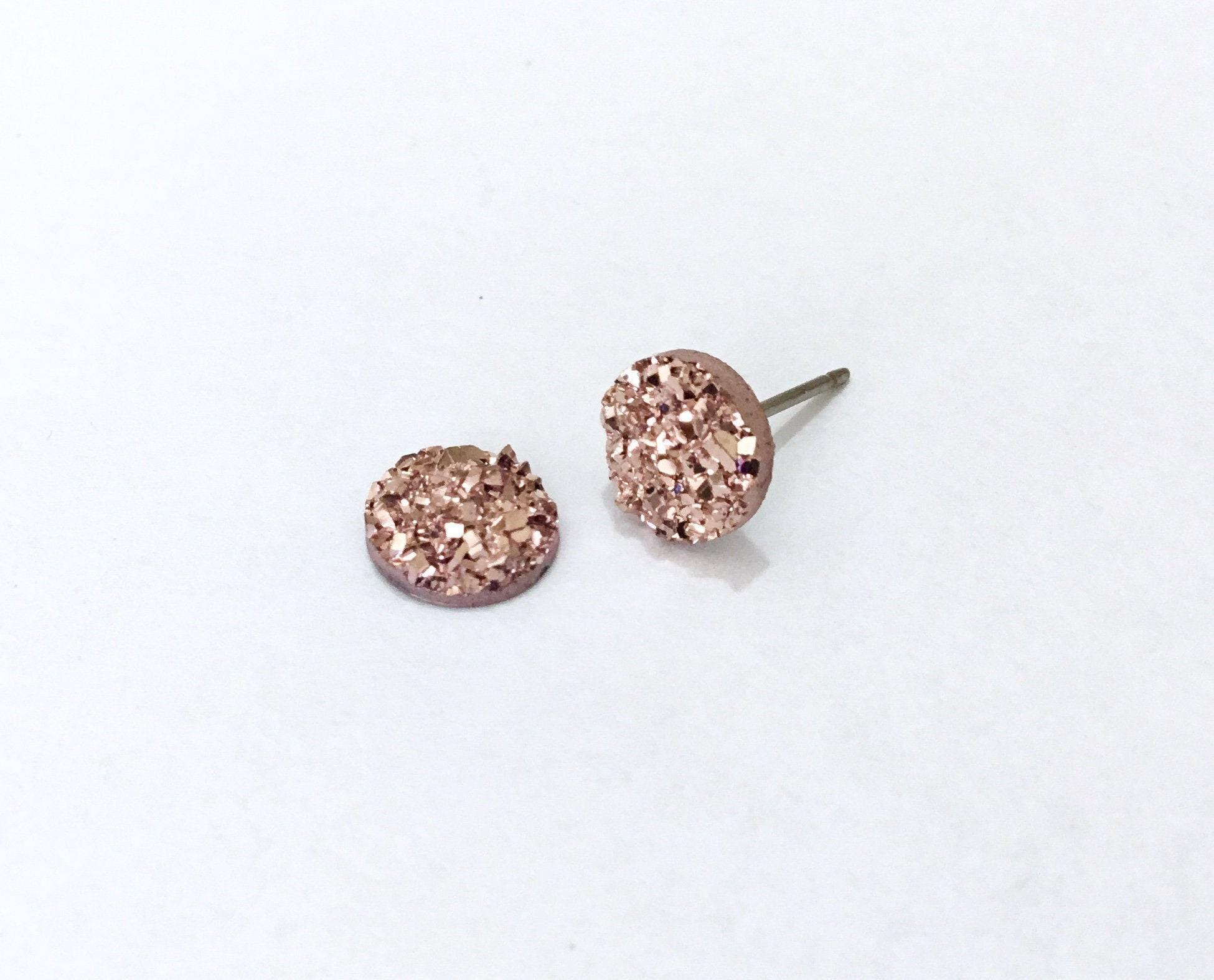 Druzy Earrings Bridesmaid Gift Minimalist Jewelry Post Earrings Druzy Stud Earrings