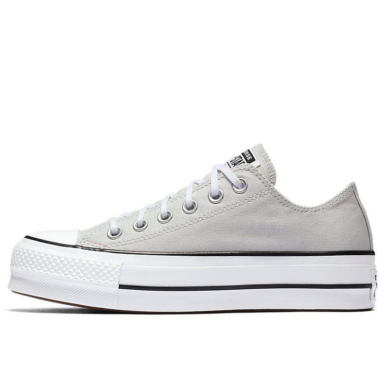 9bb667fa48e2 Gray Converse Platform lift heels wedge White Grey Canvas Low