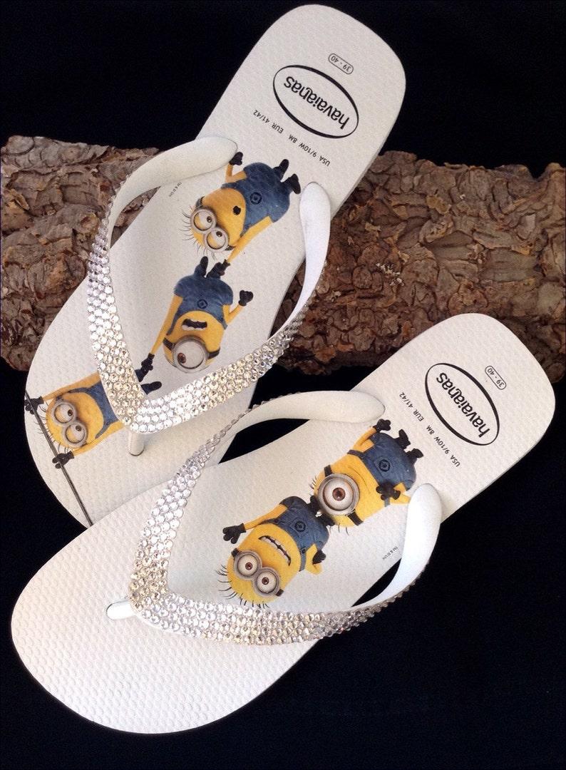 2c83eaa70ac2c4 Minions Havaianas Flip Flops Fun Despicable Me White W US 9 10