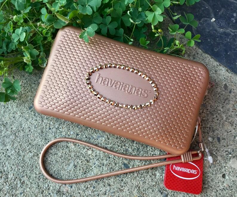 b58d28c3f9fc Rose Gold Havaianas Clutch Minibag Hand Bridal Wedding Wallet