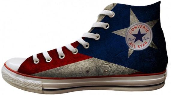 Puerto Rico Custom Print Chucks High Tops Flagge stolz | Etsy