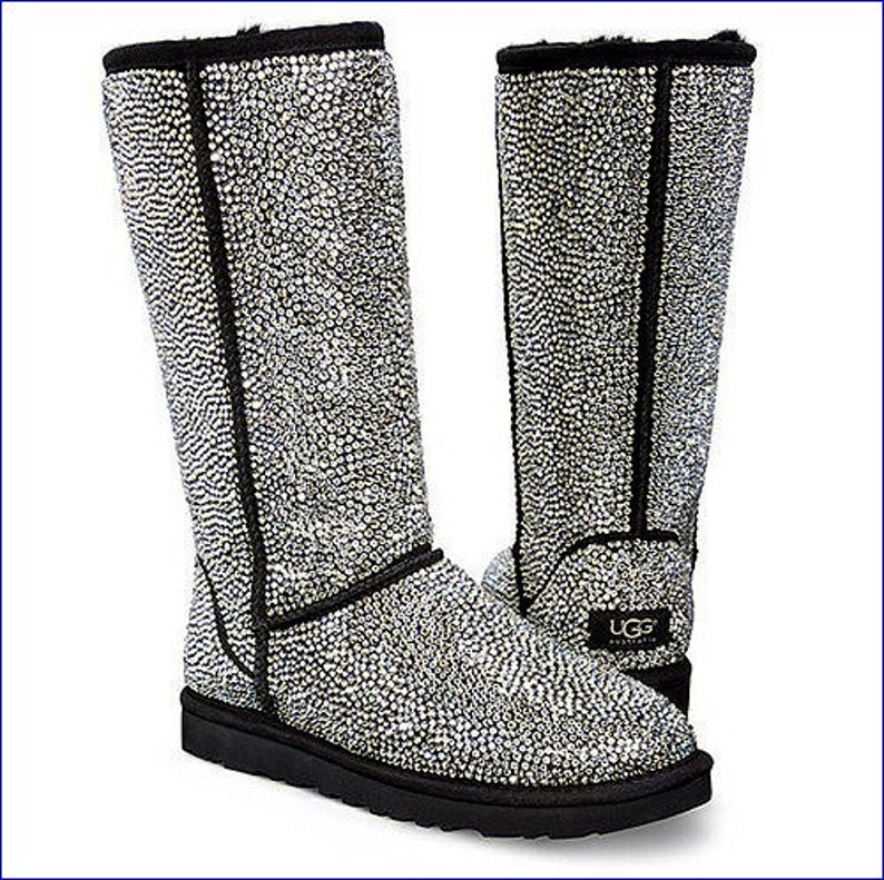 18ce1173fb9 UGG Ultimate gift w/ Swarovski Crystal Bling on Customized Classic Tall  Strass Boots Clear Dynamite Full Coverage Rhinestone Winter Shoes