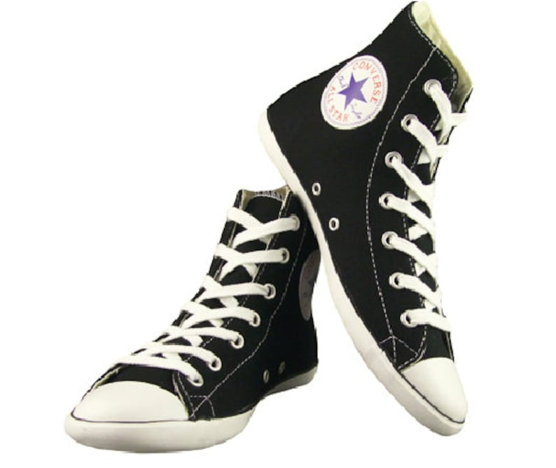 Black Converse High Top Canvas Acoustic Hi Boot Slim Lux  abf29cf2c