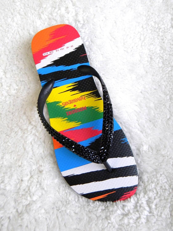 1093225f45629b Rainbow Havaianas flat MISSONI Flip Flops Collaboration Custom W US ...
