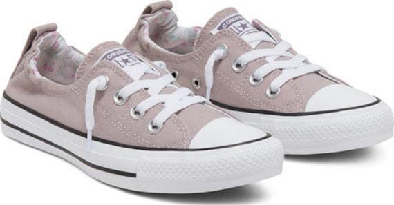 Purple Converse Gray Amethyst Grape gray Shoreline Wedding Slip on Boat w/ Swarovski Crystal Bling Chuck Taylor All Star Bride Sneakers Shoe