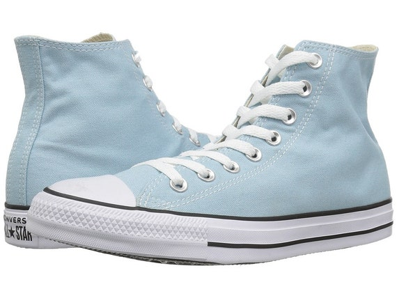 Baby Blue Converse High Top Wedding Ocean Bliss Bride Powder w/ Swarovski Crystal Kicks Bridal Bling Chuck Taylor All Star Sneakers Shoes