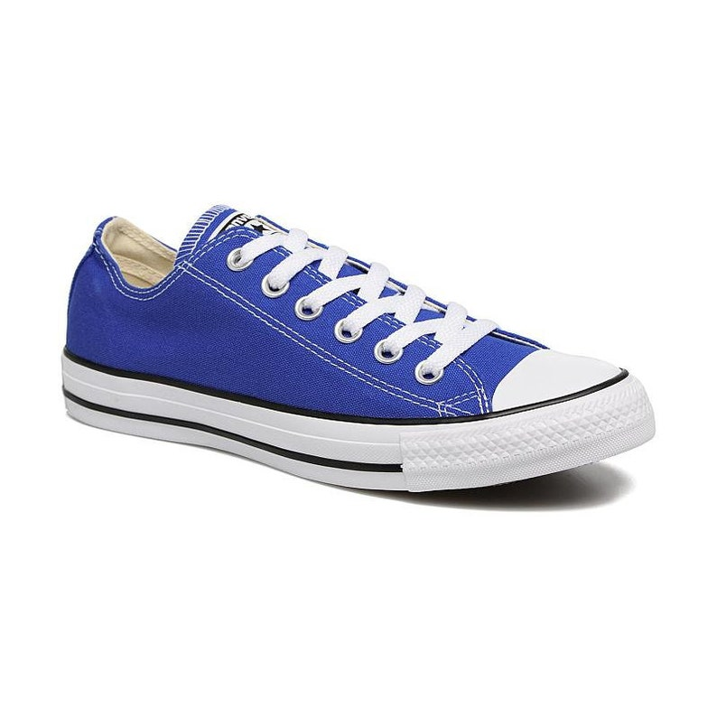 890b40d9315659 Royal Blue Converse Low Top Custom Kicks Glass Slippers w