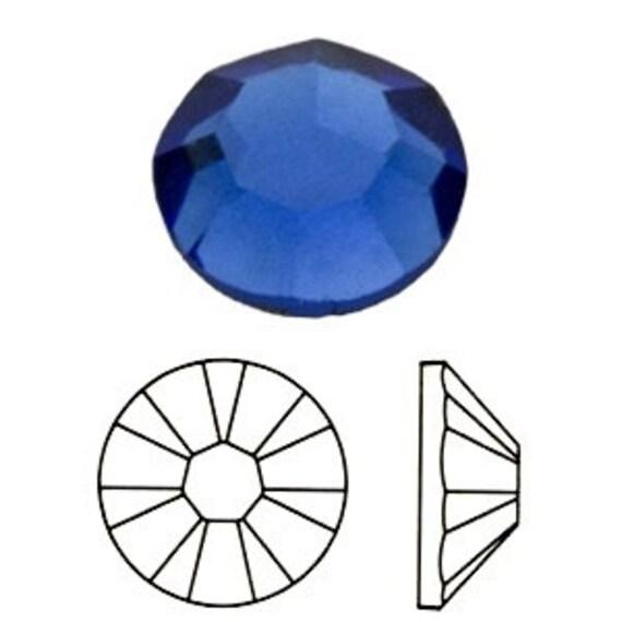 57 pc Swarovski Crystal Flatback Sapphire Blue 3mm ss12 jewel gemstones DIY craft scrapbook Cabochons 2028 Hotfix Iron on Bling gem supply