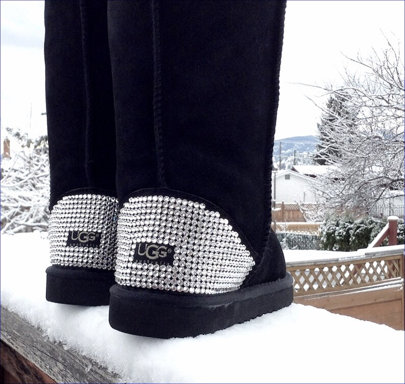 622e48651f7 Customized Classic Tall UGG Boots 5 colors Crystal Heel w/ Swarovski Jewels  Dynamite solid Rhinestones Ladies Winter Fall Snow Fashion Shoes