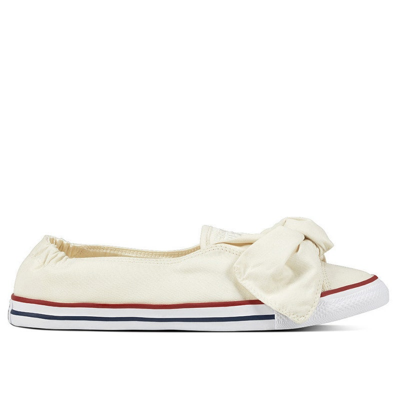 fb225d1a05bf Ivory Converse Bow White Ballet Knot Bridal Slip on w
