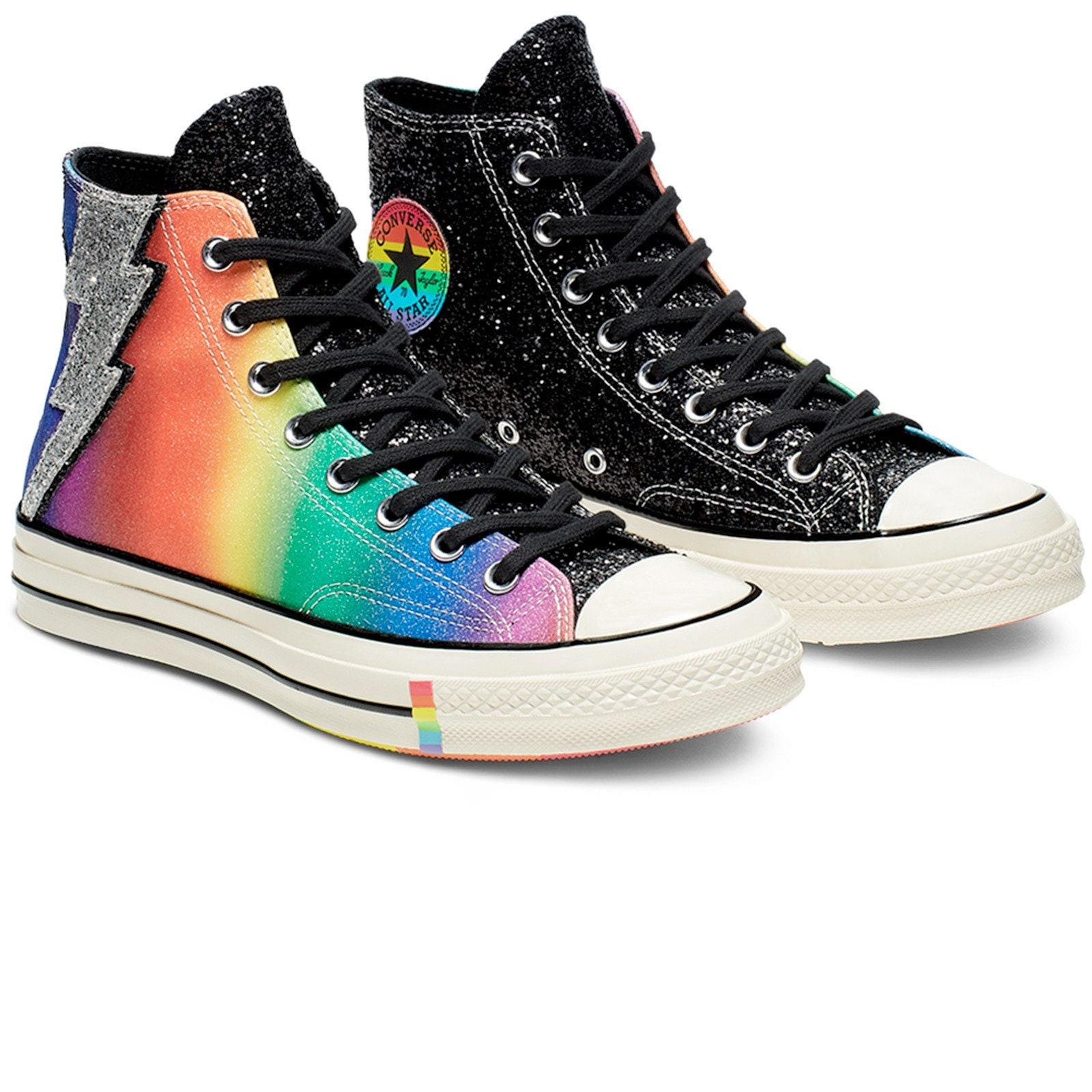 d926017e874fb 70s Pride Converse LGBTQ 2019 Rainbow Multicolor Black High Top ...
