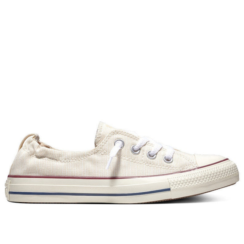 13fe2699aa0e Ivory White Converse Slip on Shoreline Twine Pinstripe