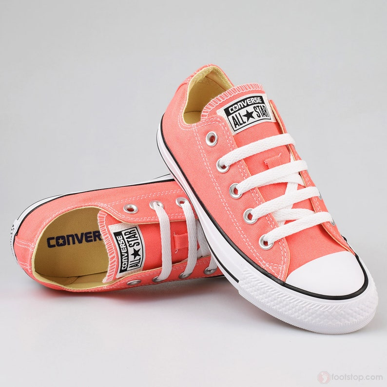 be073d3af4cc Coral Pink Converse Low Top Peach Sun Blush Apricot Melon
