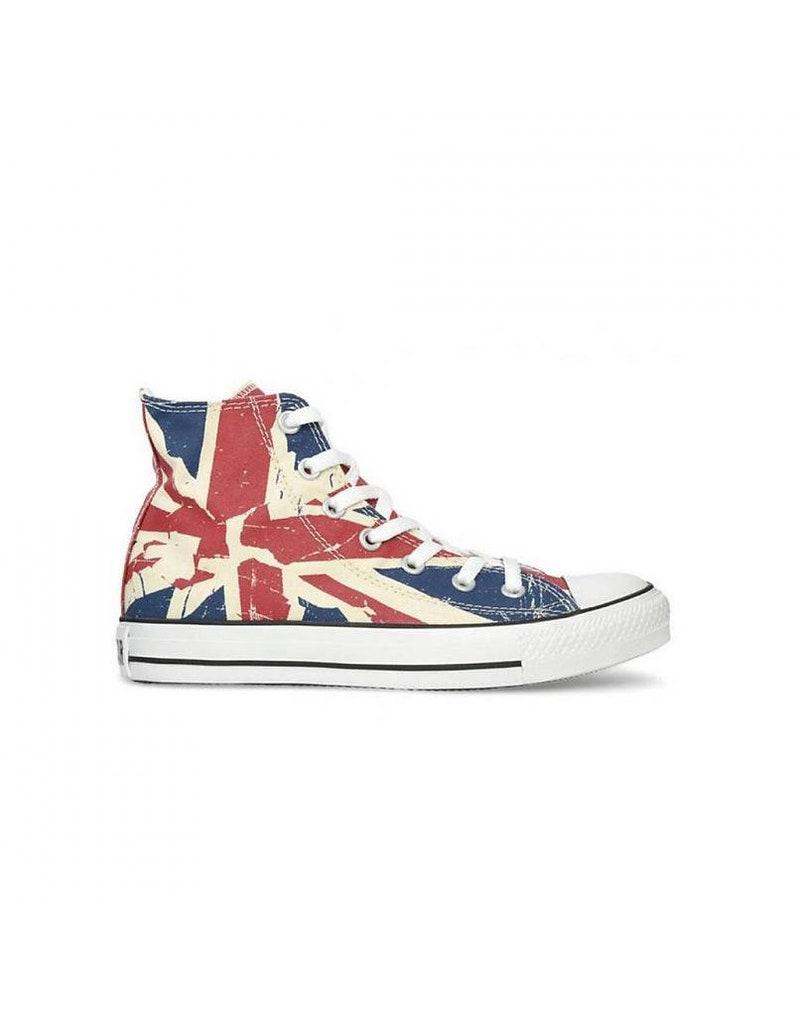 5bd920ec9ff14 Converse Union Jack haut Top dames hommes piment UK drapeau