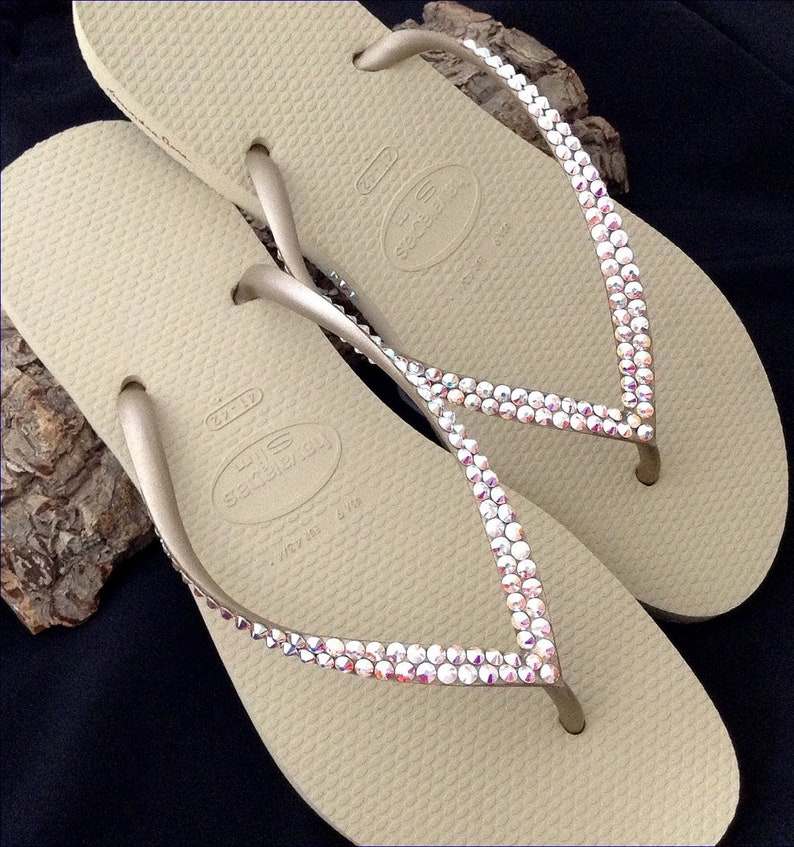 a7f0cabbcf9fbc Tan Gold Havaianas Slim Flip Flops Flat Ivory Gray Golden