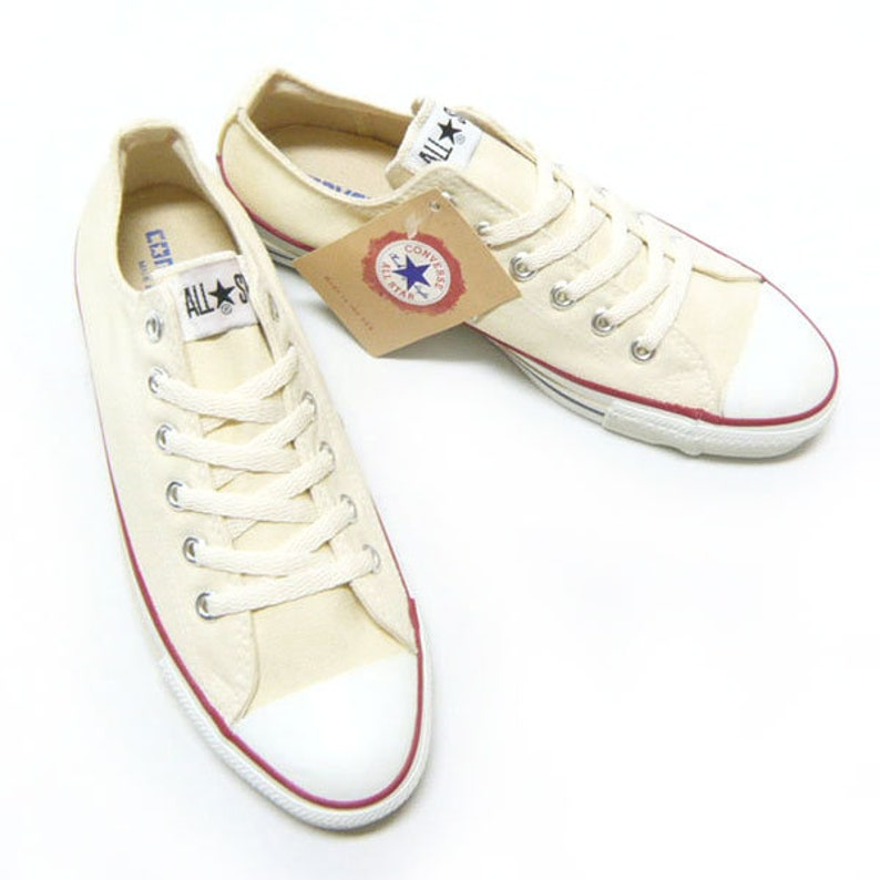6514d6d11204 Ivory Converse Low Top Canvas Beige Cream Off White Custom