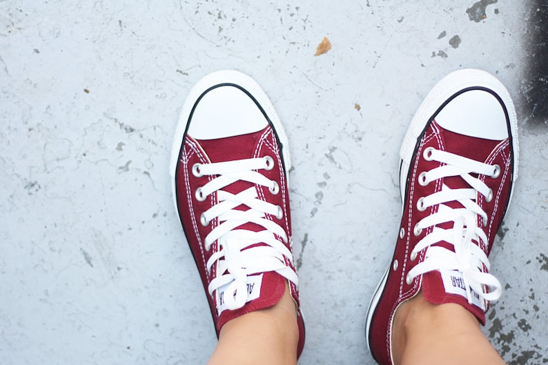cb1379846c54 Burgundy Converse Maroon Cranberry Wine Red Mens Canvas Low
