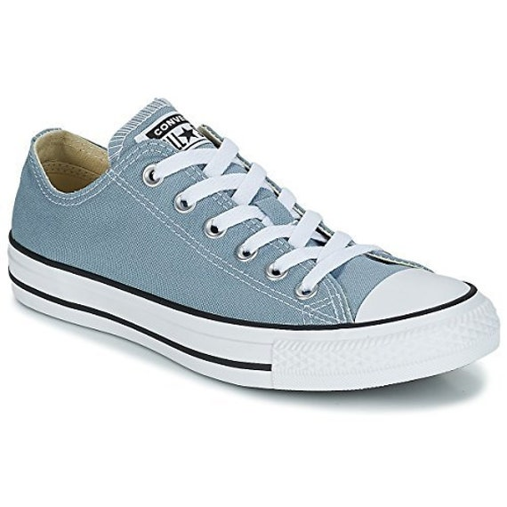 Blue Jean Denim Converse Low Top Canvas Wedding Kicks Bling w/ Swarovski Crystal Jewel Rhinestones Chuck Taylor All Star Bride Sneakers Shoe