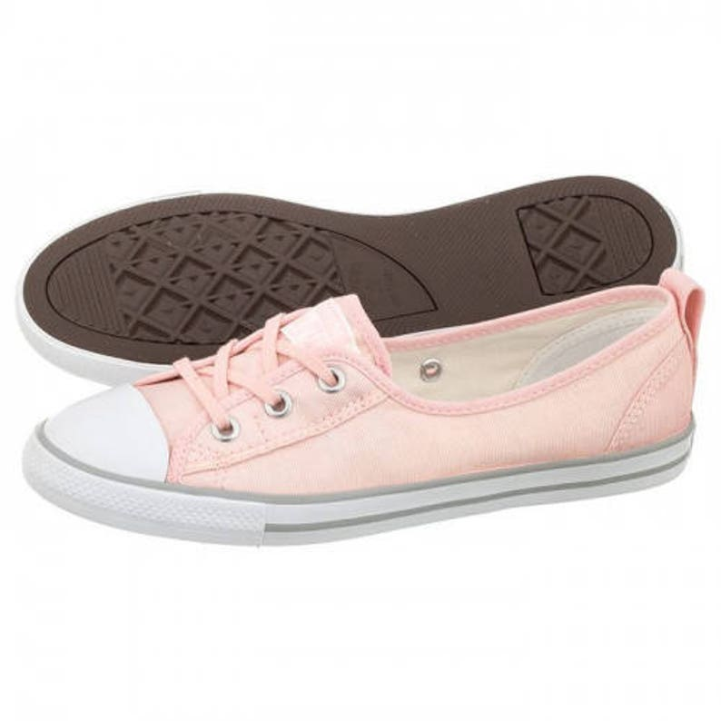 Aprikose Peach Converse Coral Palms Rose Gold Low Top Slip On Ballet Lace Pink Bridal wSwarovski Crystal Chuck Taylor Wedding Sneaker Shoe