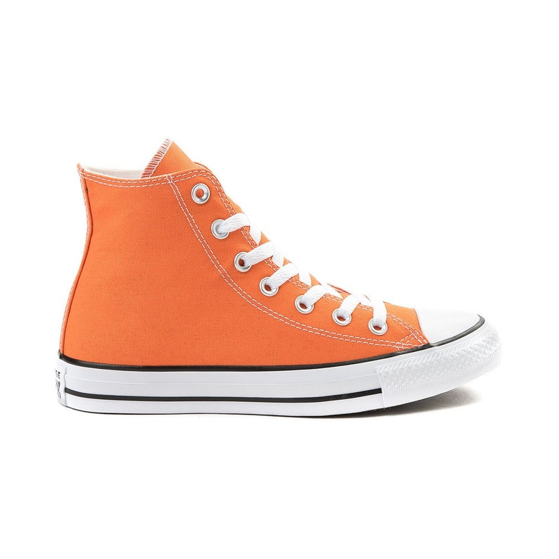 Orange High Tops Converse Poppy Saffron Canvas w  Swarovski  2b3197df42a1
