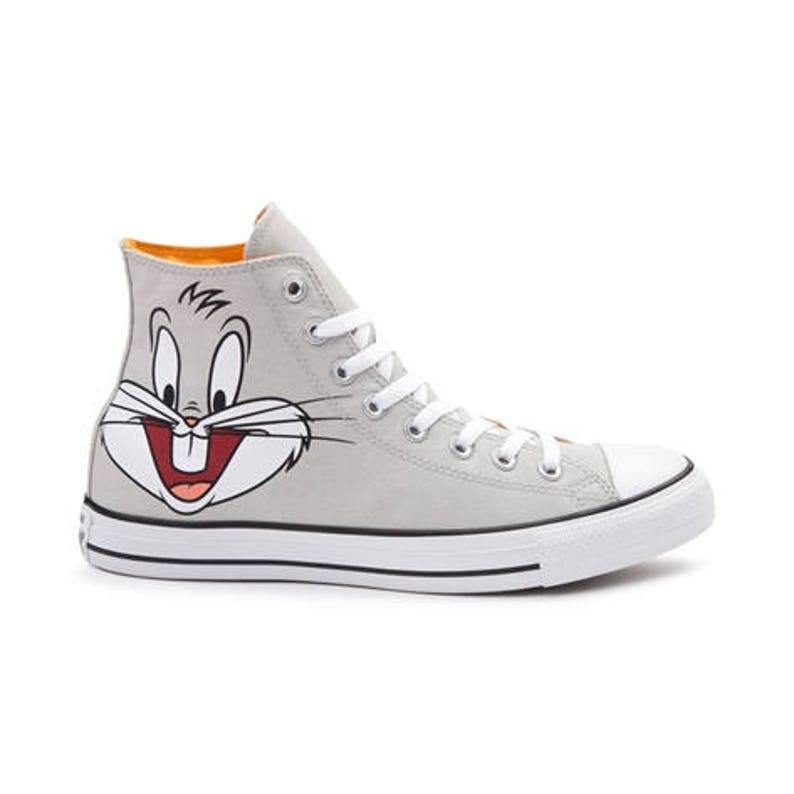 a48530ac21fd Kids Converse Looney Tunes High Top Bugs Bunny Cartoon Gray