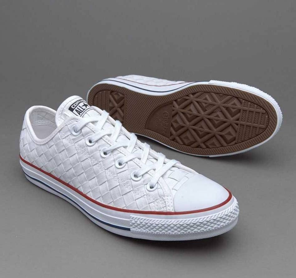 67ae9fc29596 White Lace Converse Low Woven Basket Weave Crochet Knit US W8
