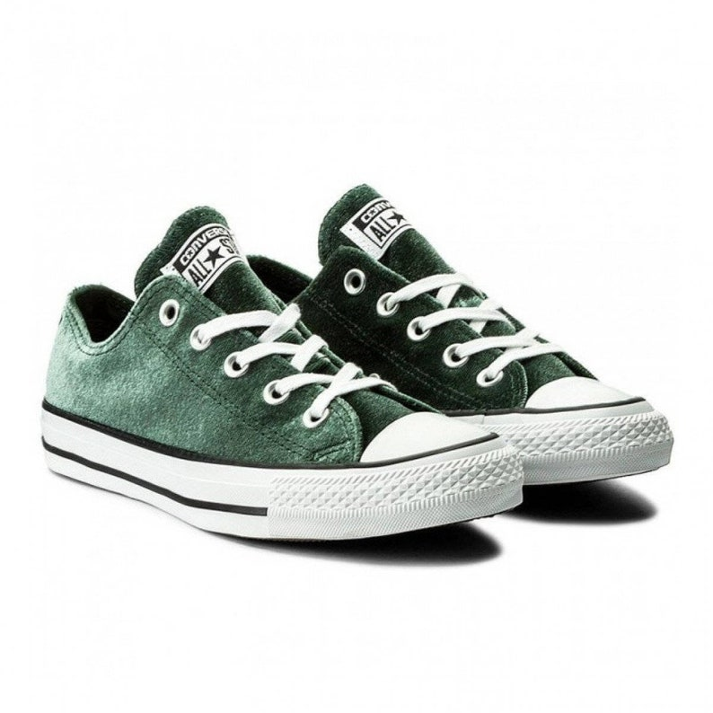 ecc544592d59 Emerald Green Converse W US 8 Crush Velvet Forest Low Top w