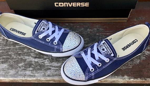 converse slip on navy