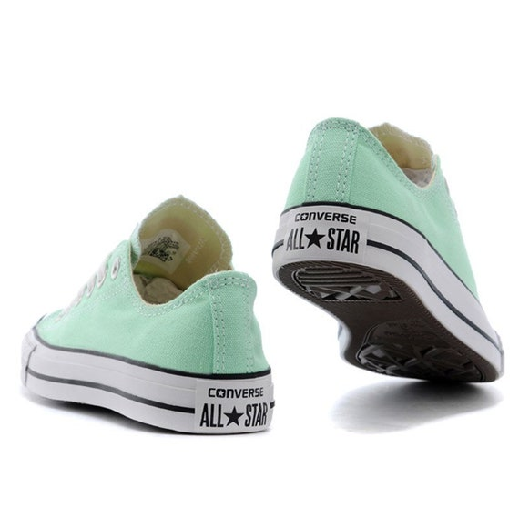 Mint Green Converse Low Top Sea Foam Pistachio Bride w/