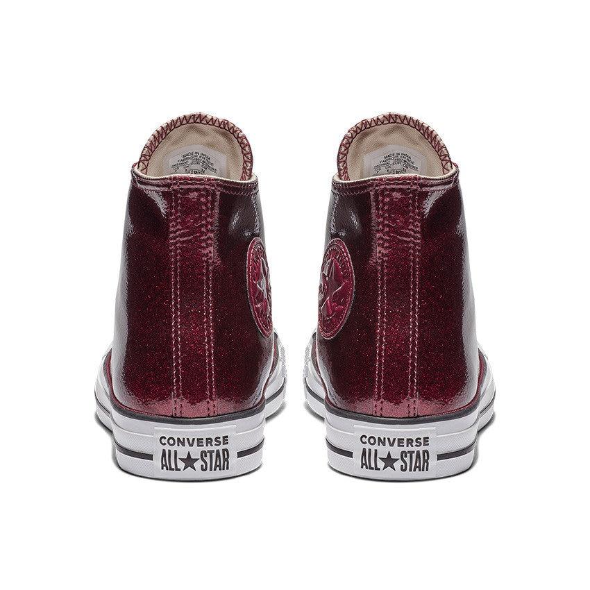 8c2c5455843827 Sparkle Converse Glitter Burgundy Red Wine Maroon Purple High Top ...
