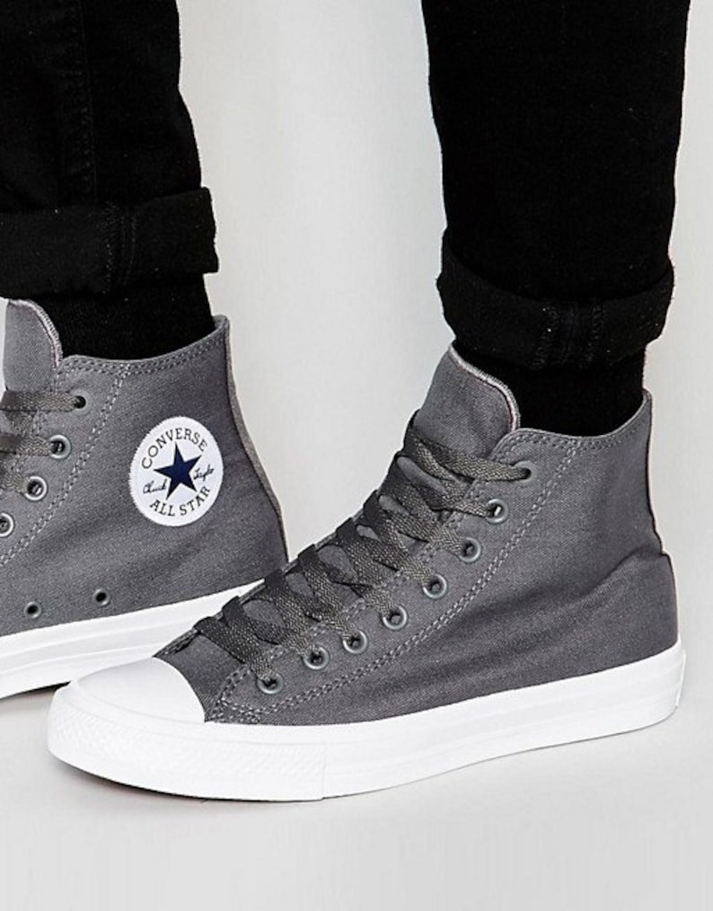 a003d79ba035 Dark Gray Converse High Top Wedding Chuck Taylor II Mono