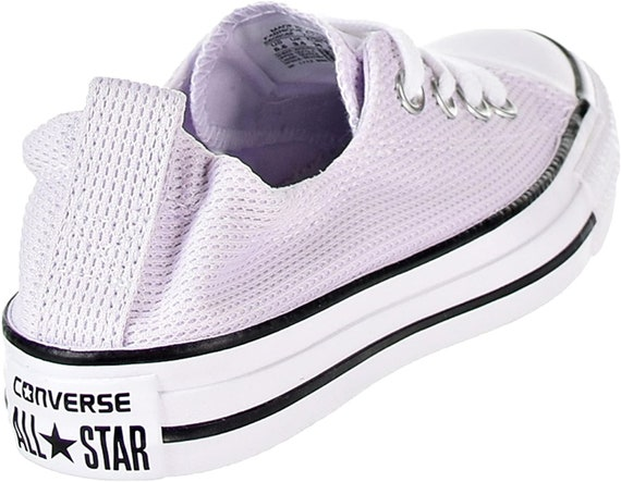 Purple Converse Lilac Lavender Grape Shoreline Wedding Slip on Boat w/ Swarovski Crystal Bling Chuck Taylor All Star Bridal Sneakers Shoes