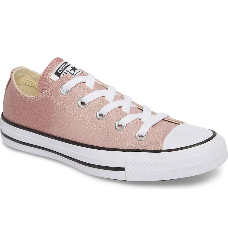 76b94d36d4f509 Pink Converse Glitter Sparkle low top Chuck Taylor Blush Ombre