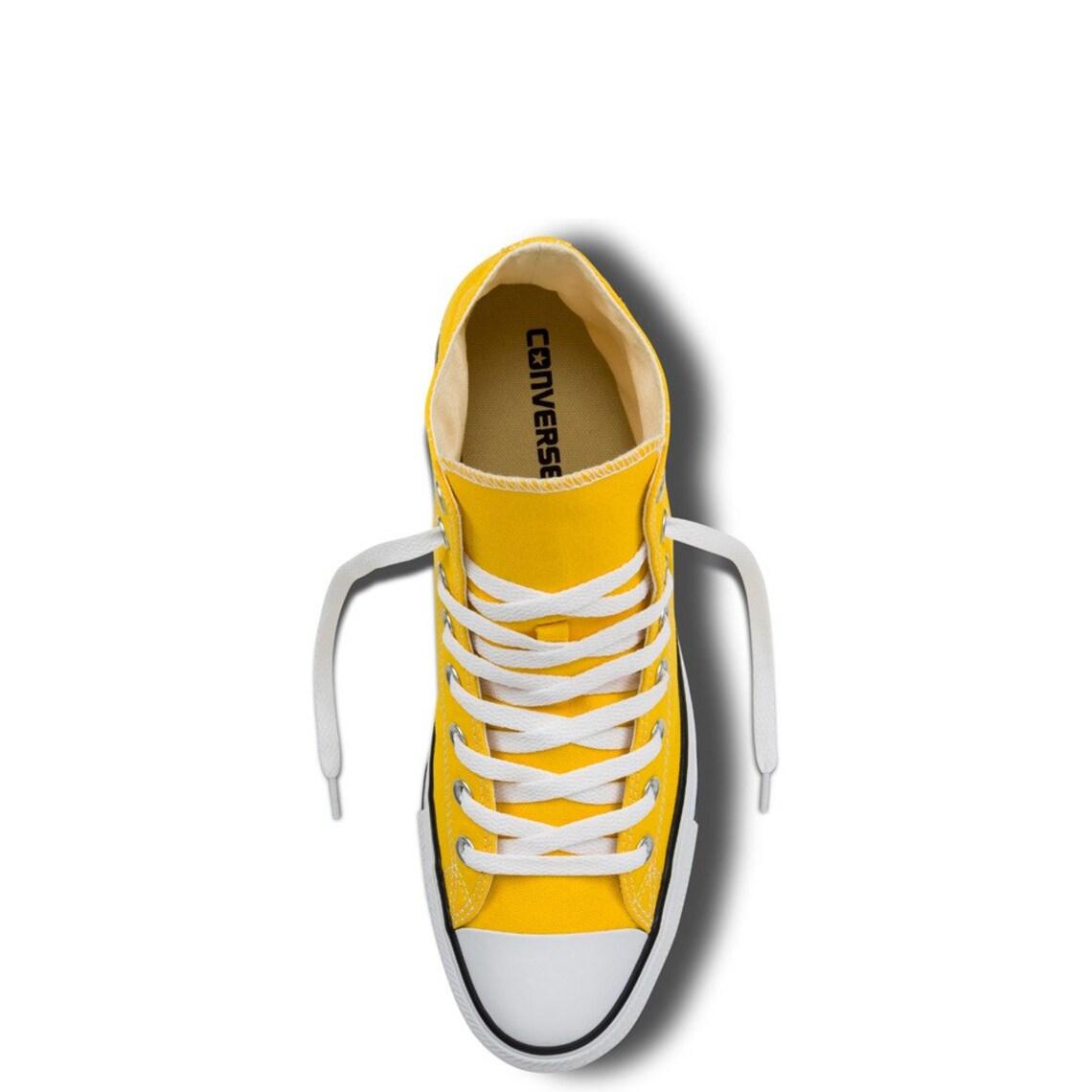 Amarillo Converse High Tops Girasol Lemon Sol Personalizado w / Swarovski Cristal Rhinestone Bling Chuck Taylor All Star Bridal Wedding Sneaker Zapato
