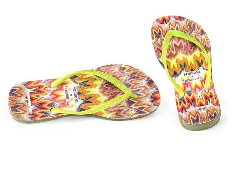 247ce53ff Custom Missoni Havaianas Slim Flat Flip Flops w  Swarovski