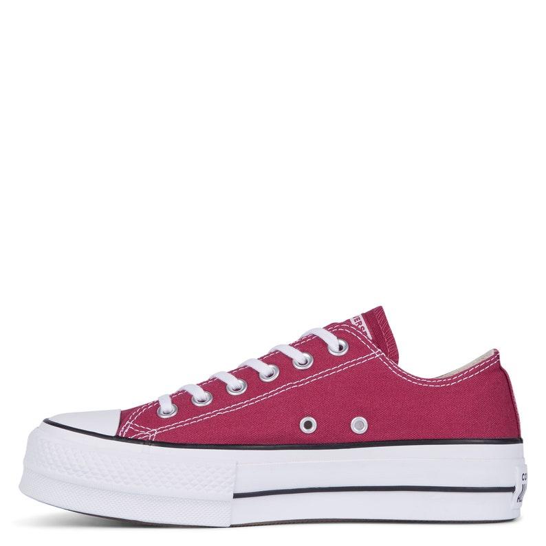 564d221c036 Burgundy Pink Converse Platform heel wedge Raspberry Red Lift | Etsy