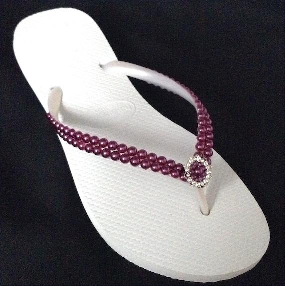 f429578d5b2ec3 Purple Pearl Flip Flops Havaianas Slim Amethyst Burgundy Wine