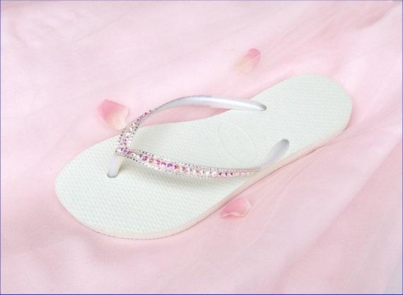 Custom Havaianas Slim Flip Flops Blush