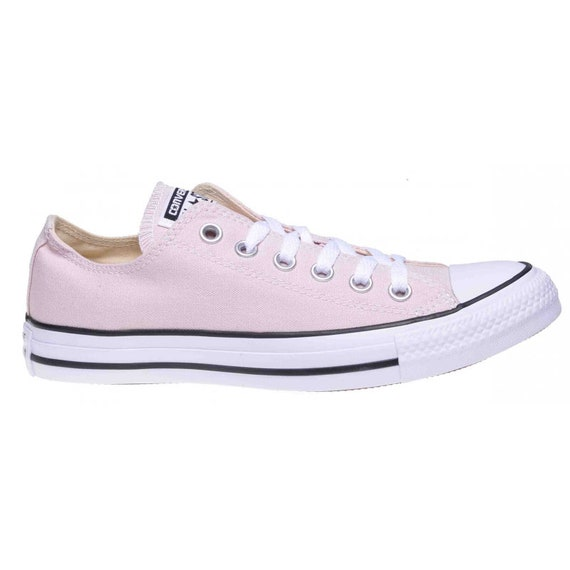 Baby Pink Converse Petal Blush Rose Custom Low Top w/ Swarovski Crystal Rhinestone Bling Chuck Taylor All Star Bride Wedding Sneakers Shoe