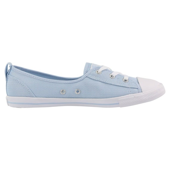Baby Blue Converse Low Slip On Ballet