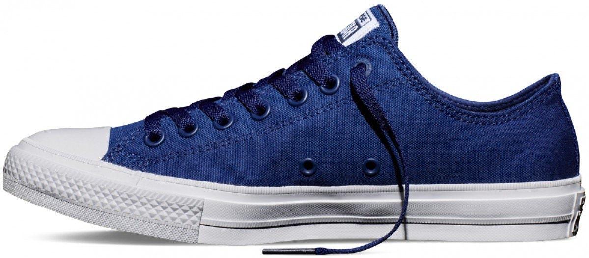 4ca80378285 Blue Converse Chuck Taylor II Low Top Mens Ladies Mono Navy Marine ...