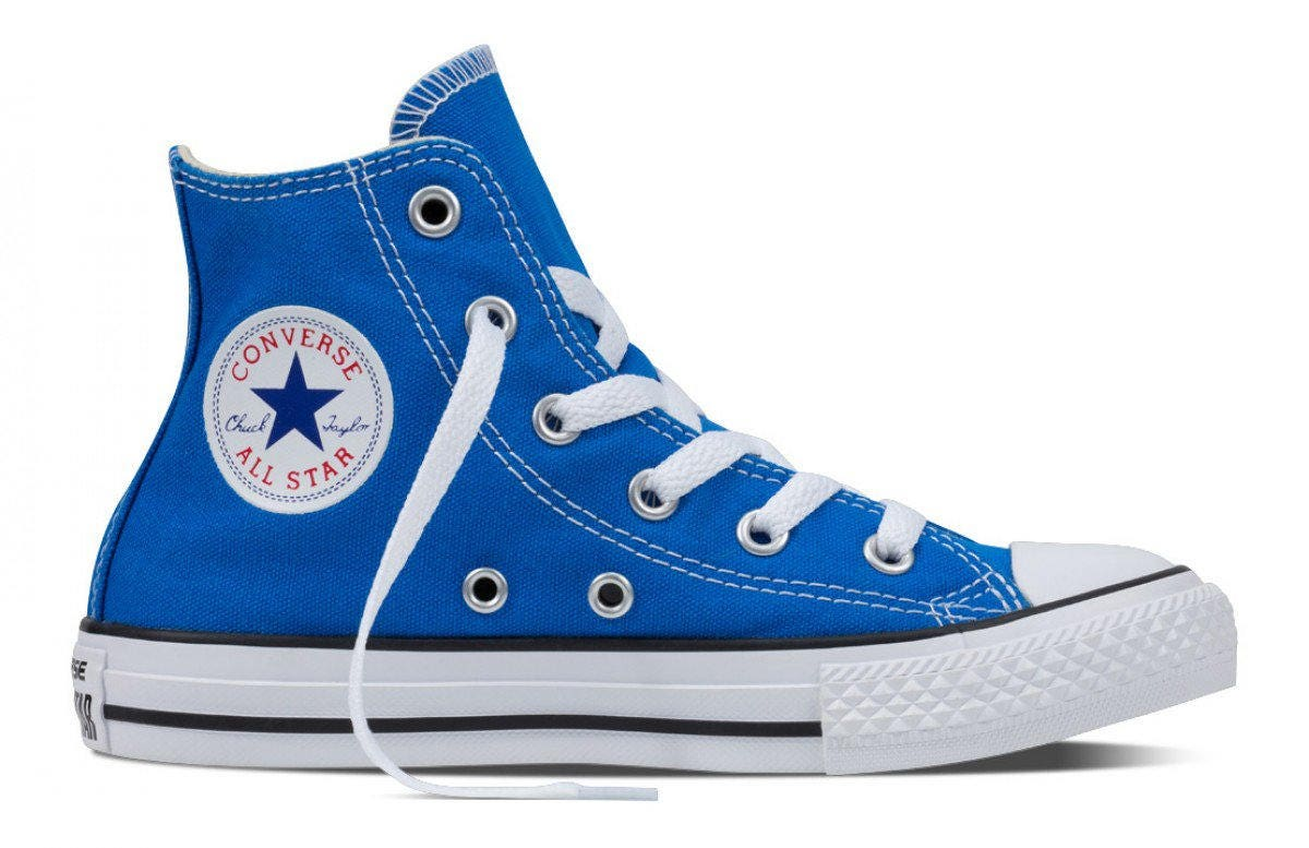 f6d6eb7cbe63 Kids Blue Converse Childrens High Top Youth w  Swarovski Crystal Rhinstone  Soar Canvas Chuck Taylor Bling All Star Sneakers Shoes