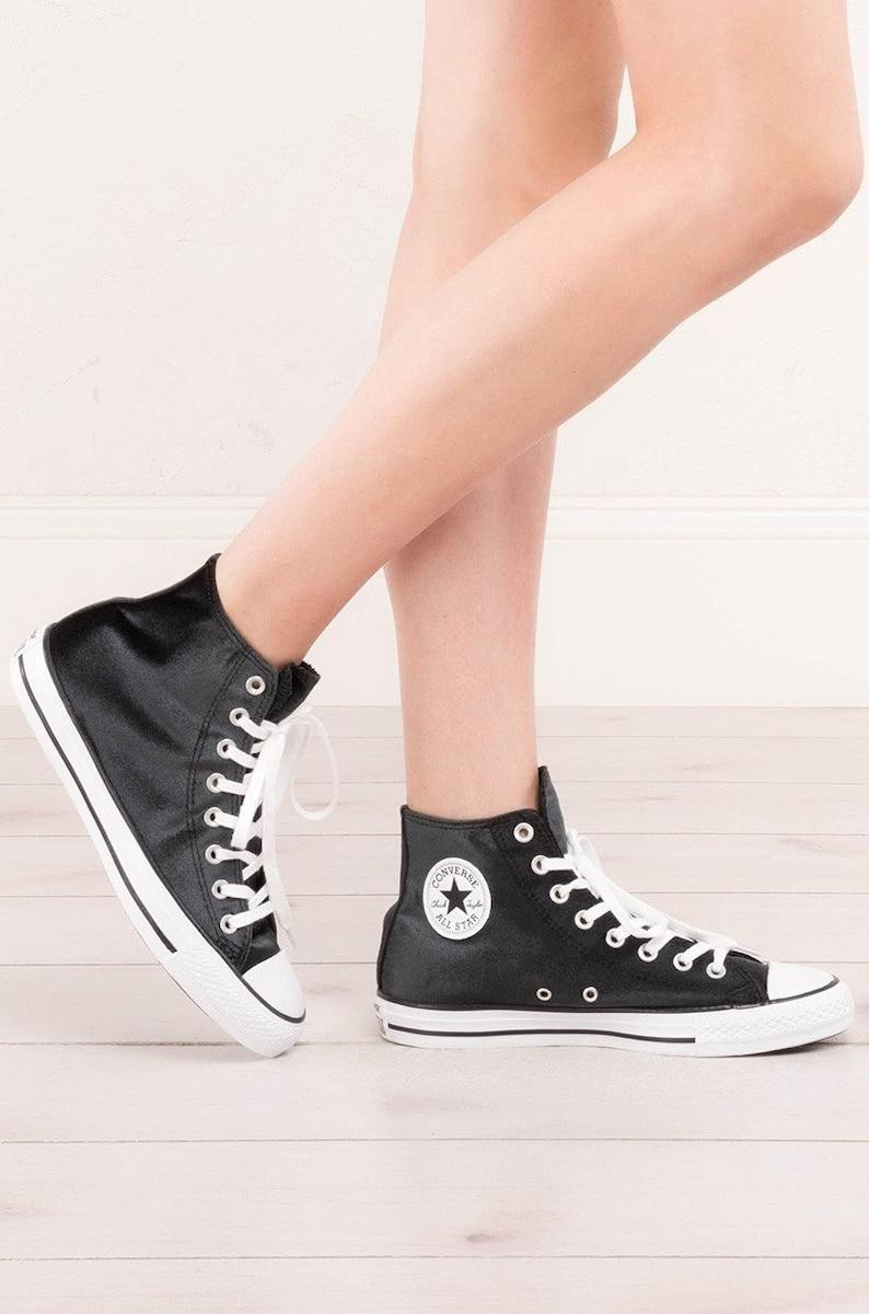 1ab67ce4bc2b Black Velvet Converse Chuck Taylor Crush High Top w  Custom