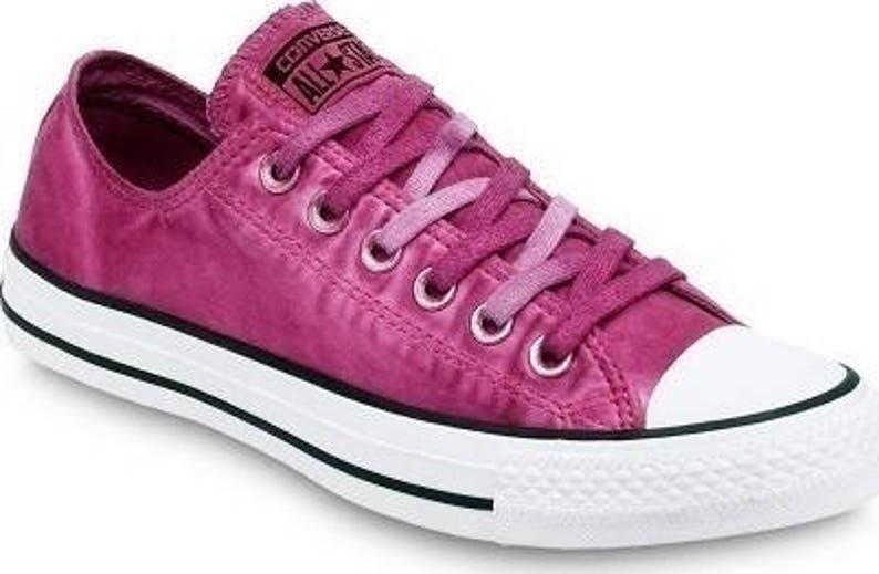 843cd4bbb266dd Pink Converse Fuchsia Low Top Wash Mono Custom Kick w