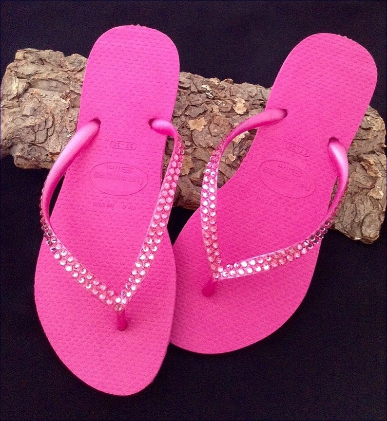 450ffcdc178d76 Hot Pink Havaianas Slim Flip Flops Rose Fuchsia Magenta